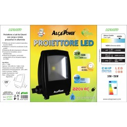 PROIETTORE LED 220V 30W 6000°K IP65 ALCAPOWER