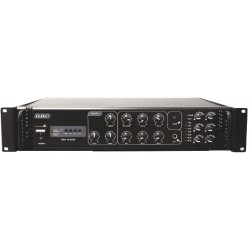 AMPLIFICATORE PROFESSIONALE 100V / 180W A 6 ZONE CON MP3
