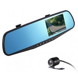 """Specchietto Retrovisore 1080P Doppia Camera Fronte e Posteriore Visione Notturna, Schermo LCD 4.3"""""""