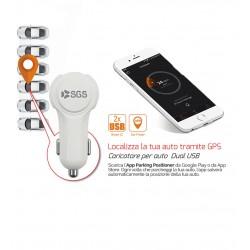 Caricabatterie Auto per Smartphone con sistema di localizzazione